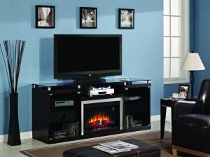 TV-meubel met sfeerhaard - Albright
